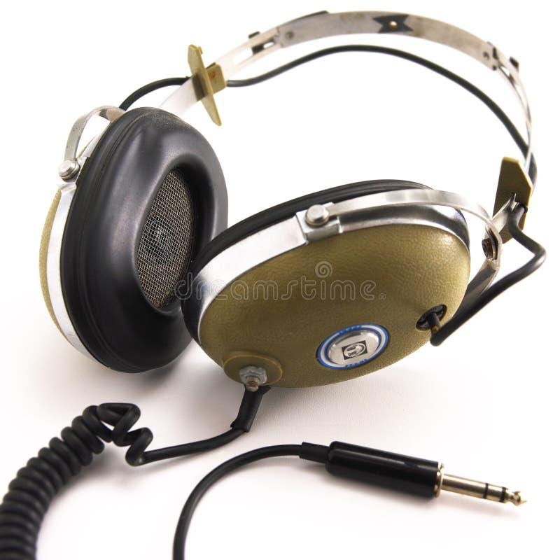 Écouteurs de cru photographie stock