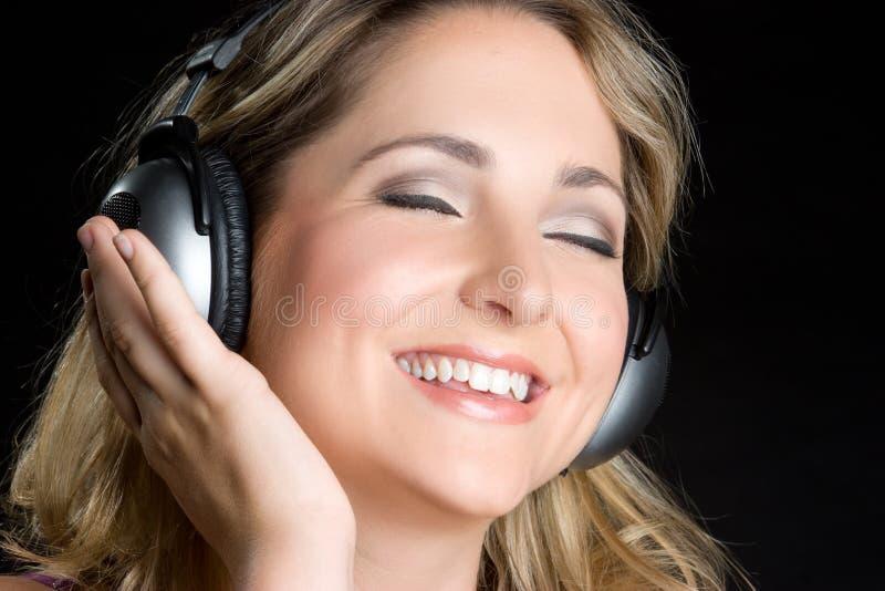 écouteurs de fille photo libre de droits