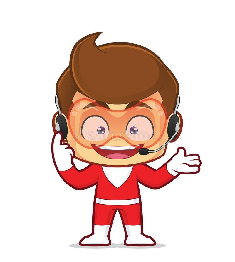 Écouteurs de port de super héros photos libres de droits