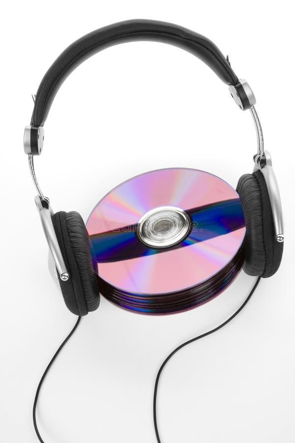 Écouteurs et Cd images stock