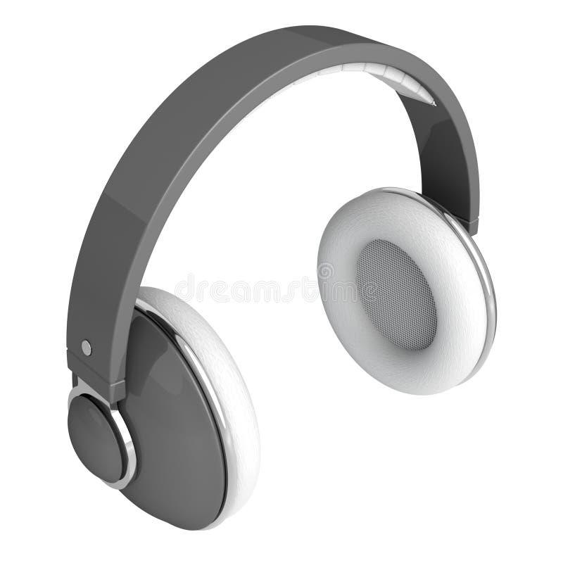 Écouteurs gris illustration libre de droits