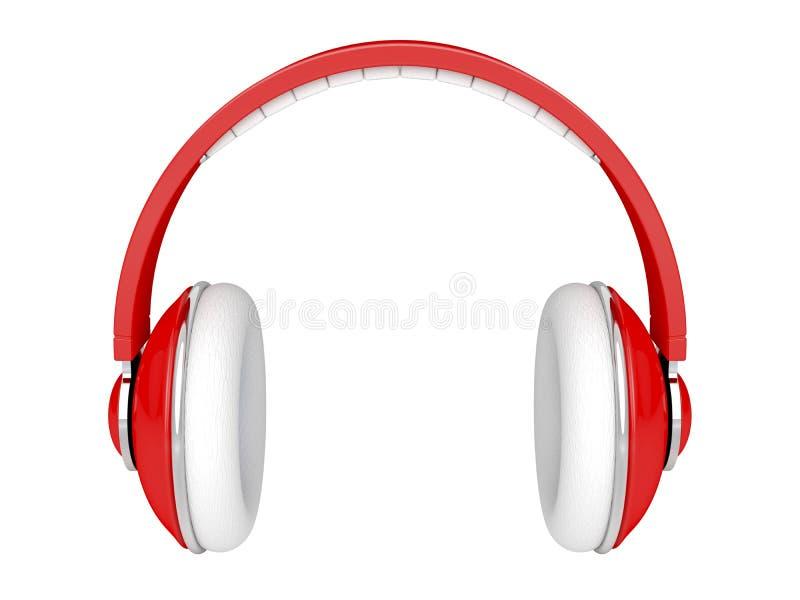 Écouteurs rouges illustration libre de droits