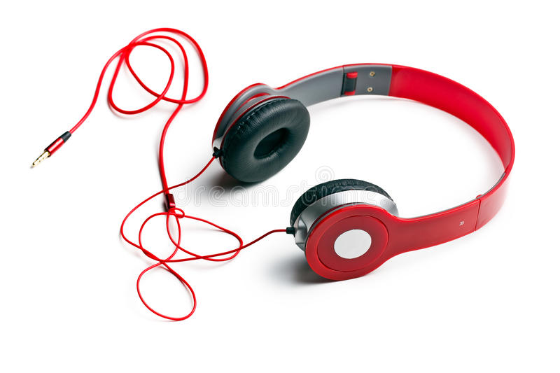 Écouteurs rouges images libres de droits