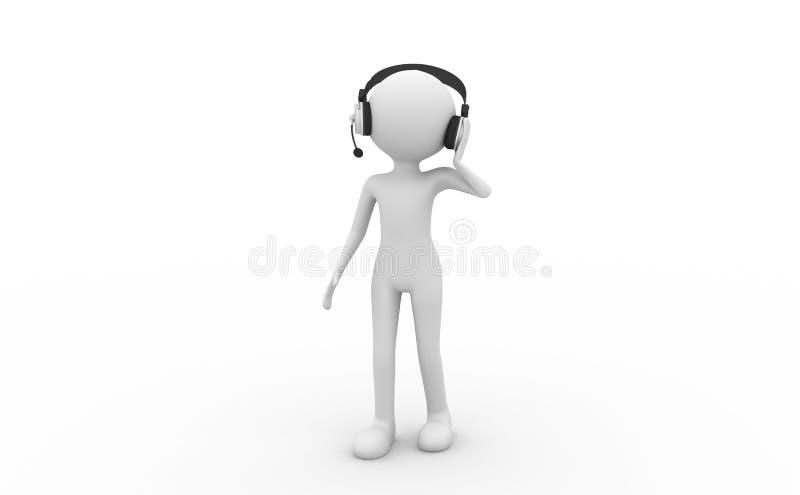 Écouteurs s'usants de gens illustration stock