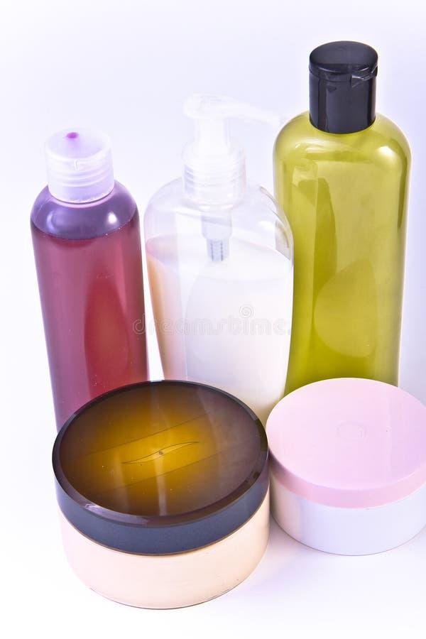 Écrème et des lotions photo stock