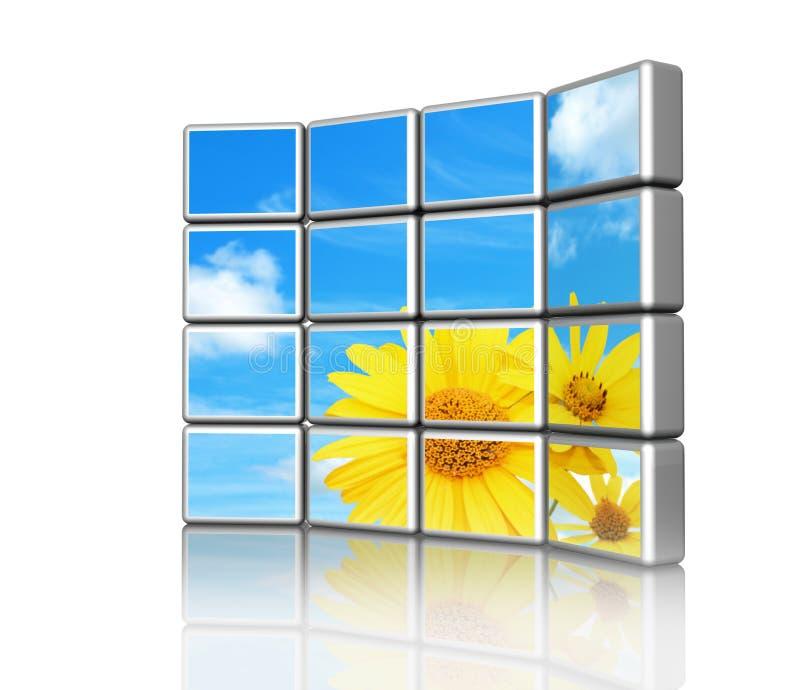 écran 3d illustration de vecteur