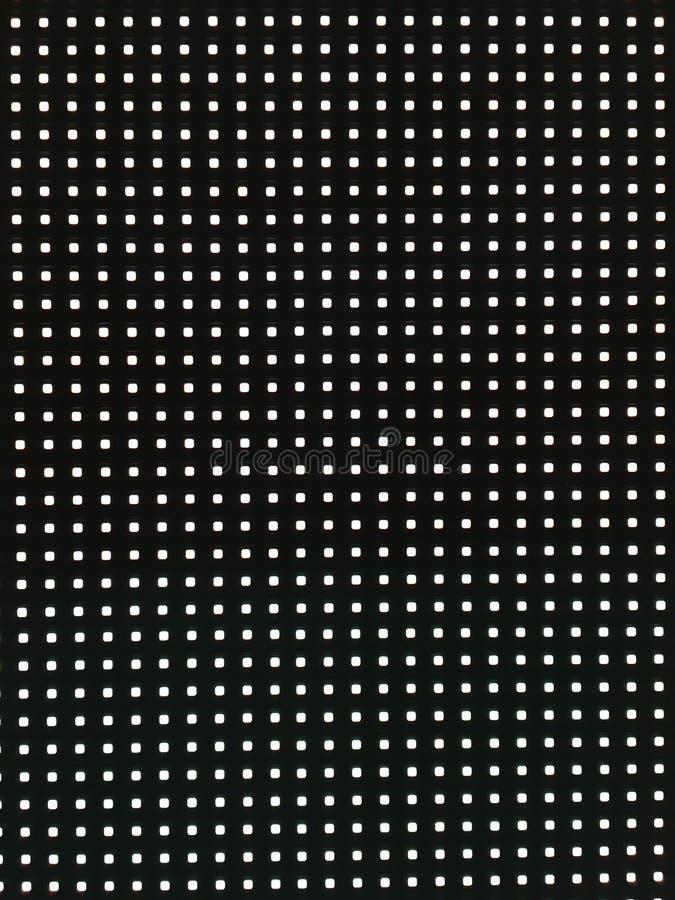 Écran abstrait de LED, LED blanche électronique photographie stock