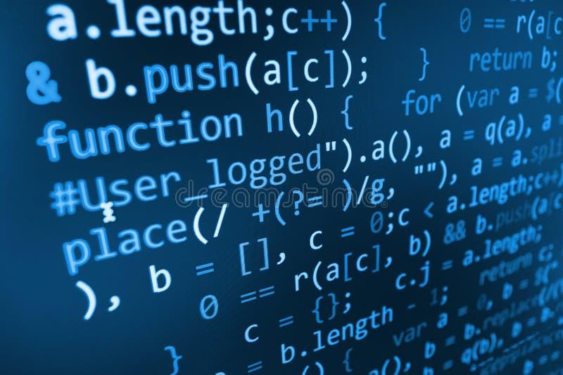 Écran abstrait de programmation de code de programmateur de logiciel photo libre de droits