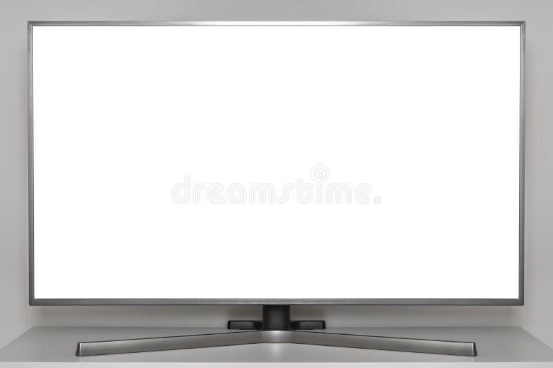 Écran blanc à la TV numérique photographie stock libre de droits