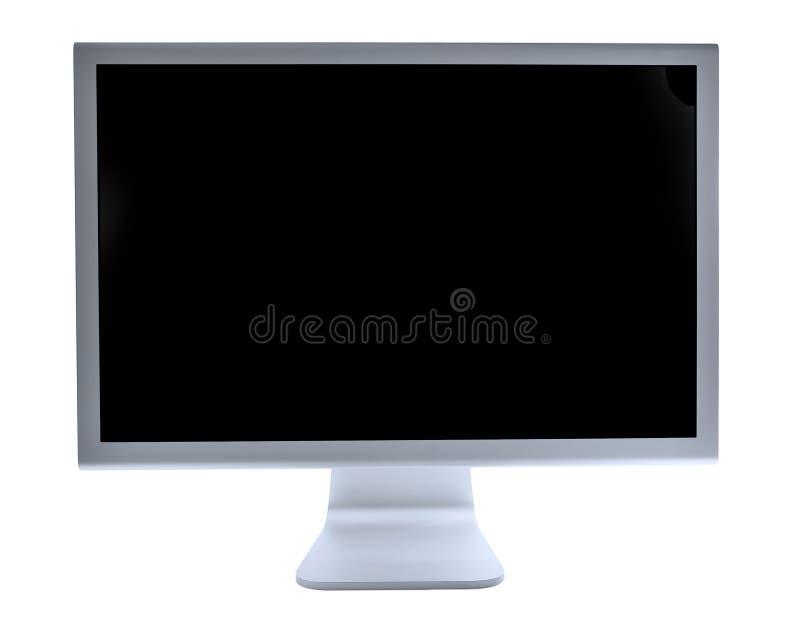 Écran blanc d'affichage à cristaux liquides images libres de droits