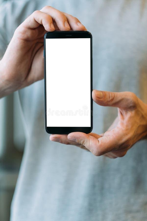 Écran blanc de maquette d'application Web mobile photo libre de droits