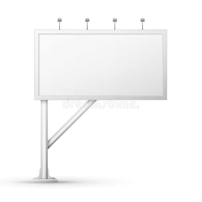 Écran blanc de panneau-réclame illustration stock