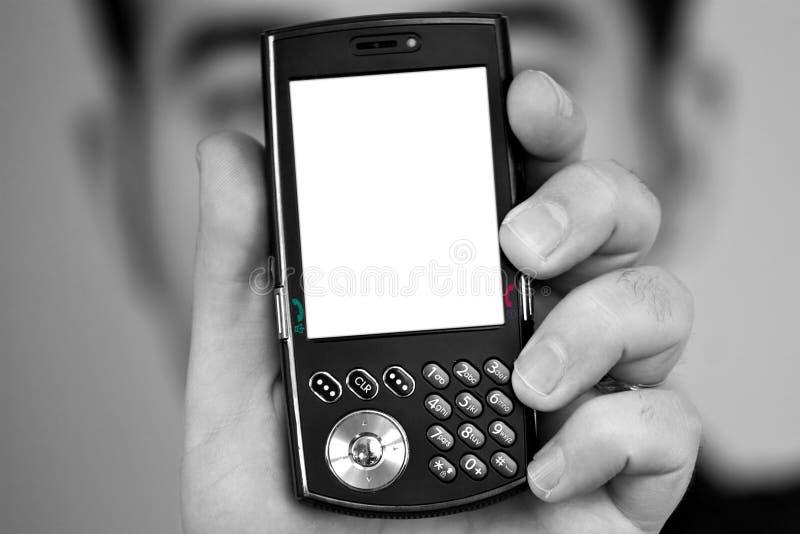 Écran blanc de téléphone portable image libre de droits