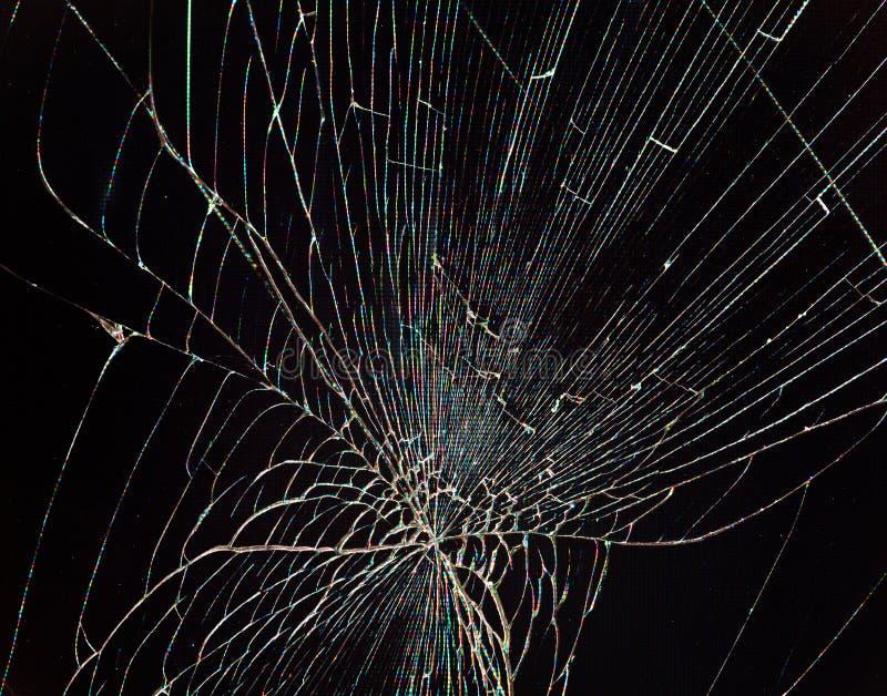 Écran cassé fendu d'affichage à cristaux liquides photographie stock