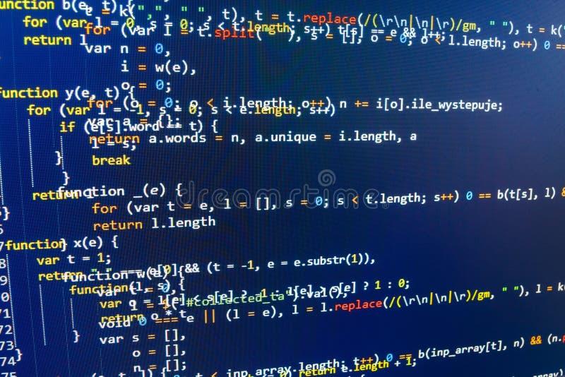 Écran d'espace de travail de programmateur de logiciel illustration de vecteur