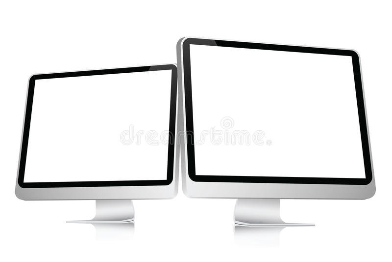 Écran d'ordinateur blanc illustration libre de droits