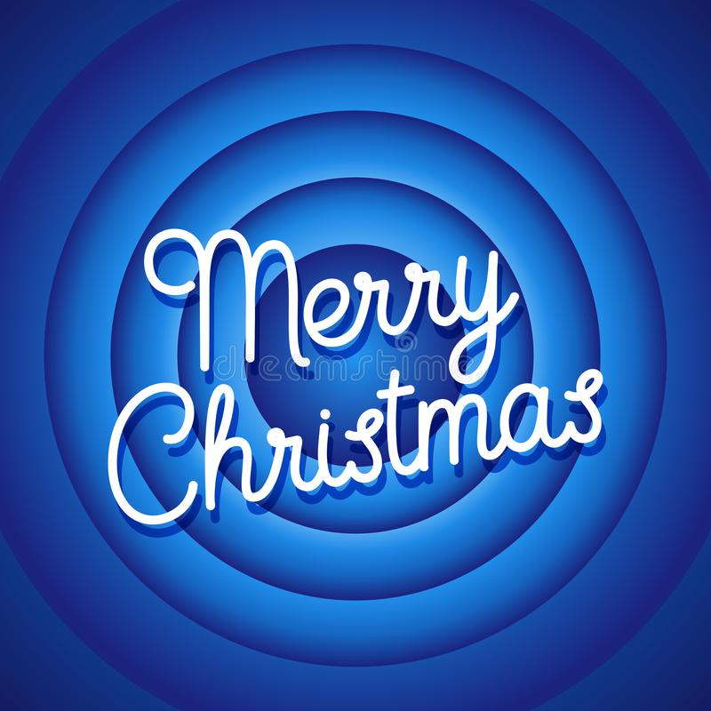 Écran de fin de film de Joyeux Noël Vecteur bleu de fond illustration stock