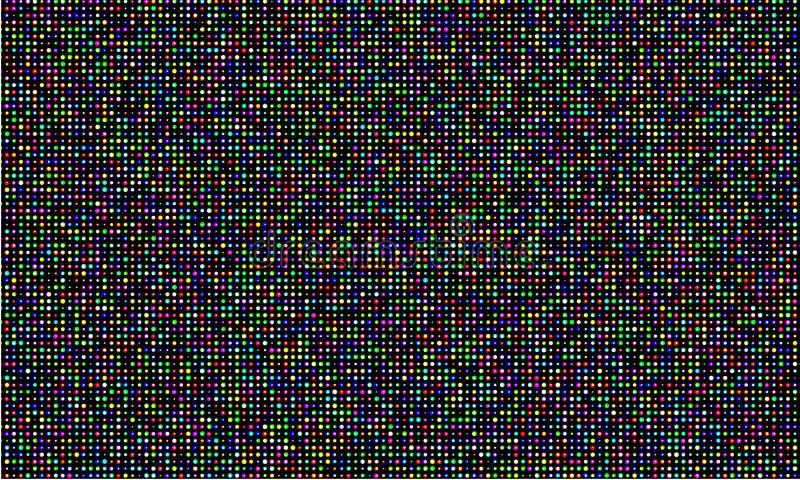 Écran de mur de vidéo de la couleur LED, texture de grille de point de diode de lumière de couleur de RVB Fond numérique de modèl illustration libre de droits