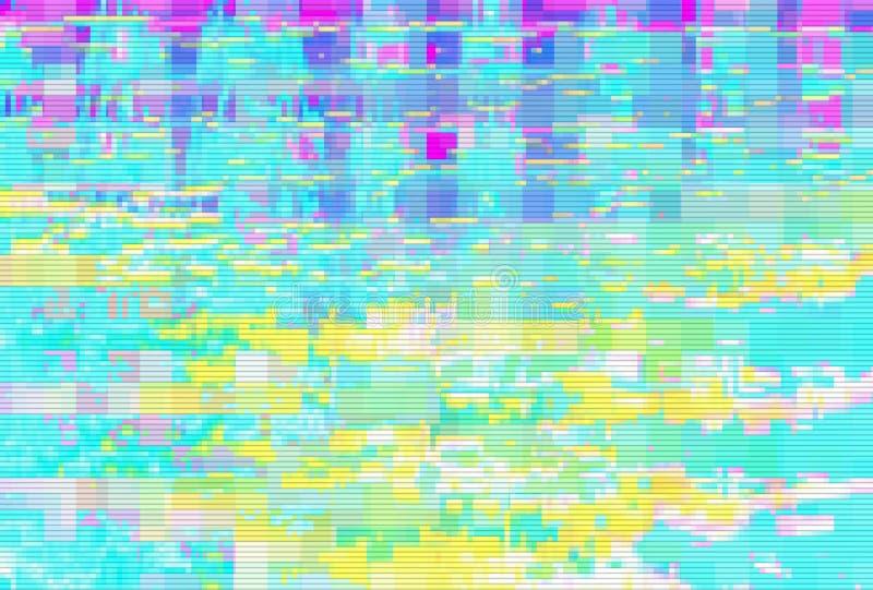 Écran de problème de fond de bruit de Digital, déformation de pixel illustration libre de droits
