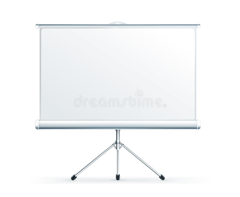 Écran de projection blanc illustration libre de droits