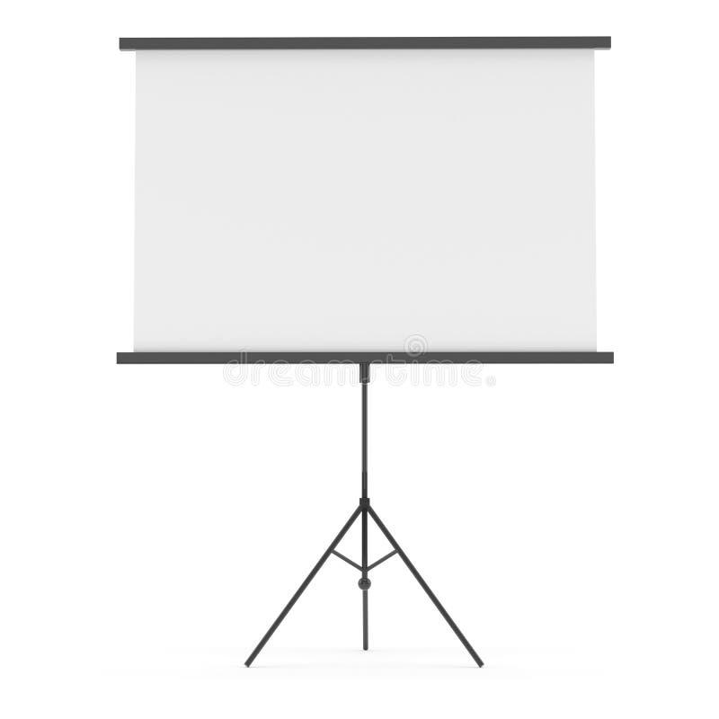Écran de projection blanc photo libre de droits