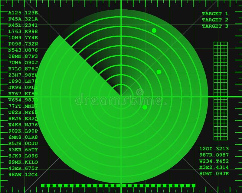 Écran de radar illustration stock