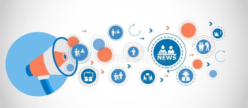 Écran de TV avec les dernières nouvelles Icônes détaillées d'ensemble d'icône d'élément de media Conception graphique de qualité  illustration de vecteur
