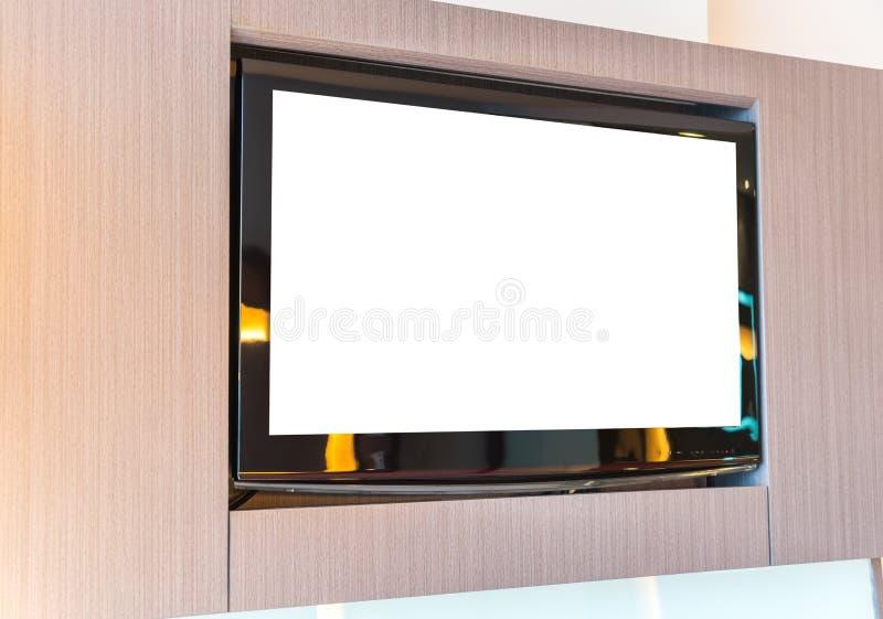 Écran de TV sur le mur images libres de droits
