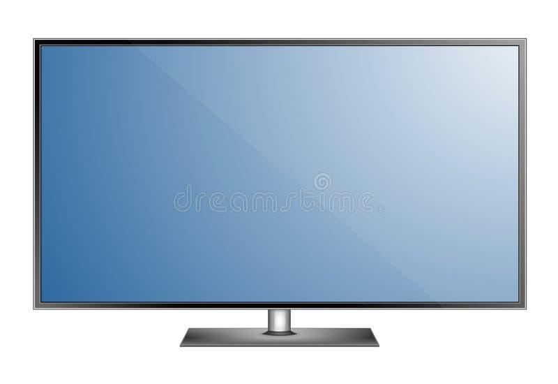 Écran de TV Type mené élégant moderne Maquette d'affichage de moniteur de grand ordinateur Illustration de vecteur illustration stock