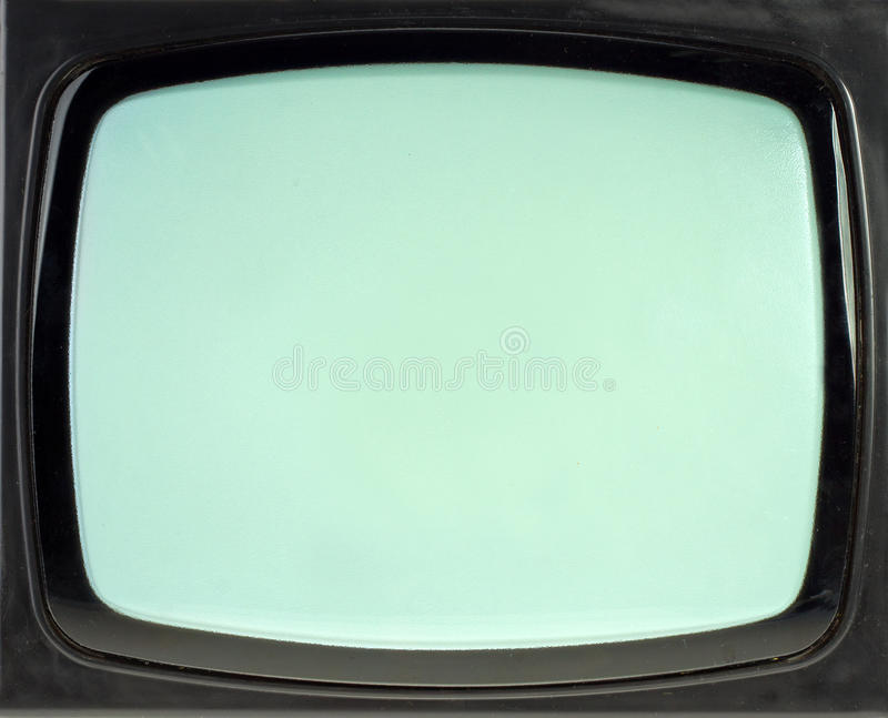 Écran du cru TV images stock