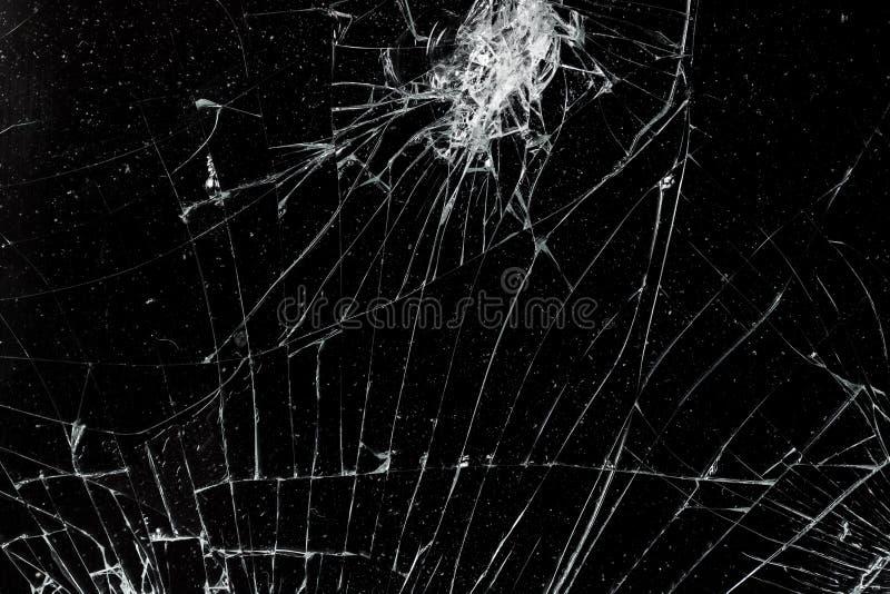 Écran mobile cassé criqué de vue supérieure photos libres de droits