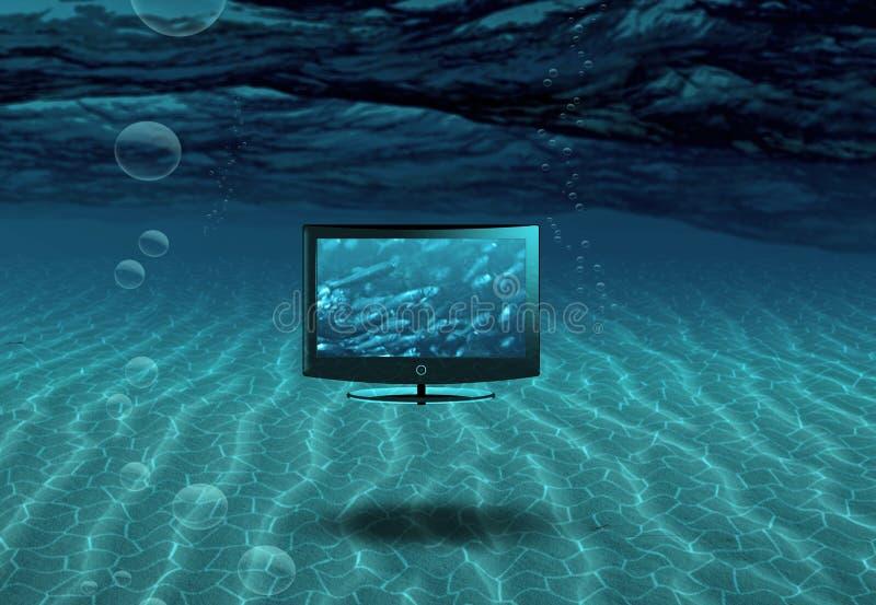 Écran plat en mer illustration libre de droits