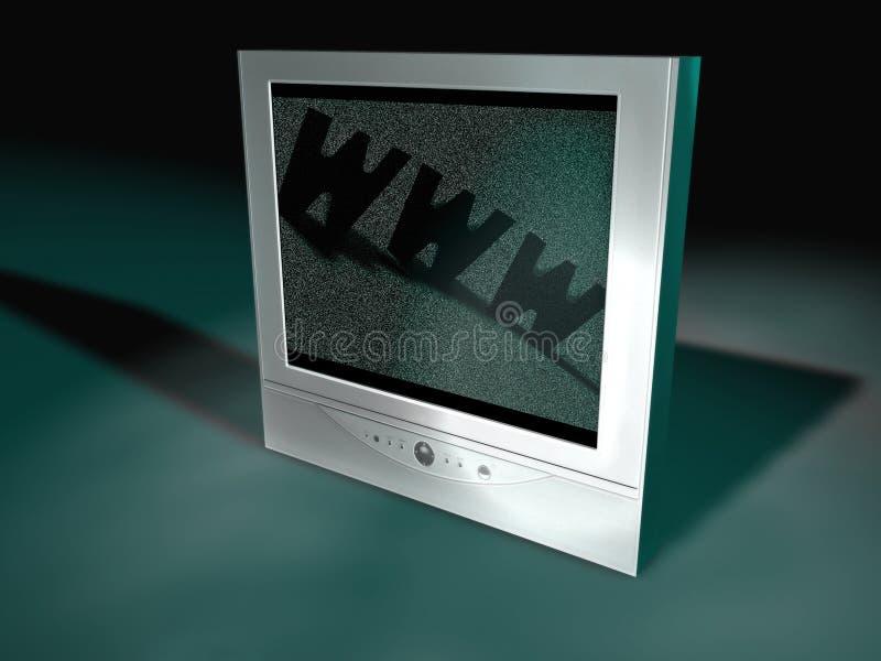 Écran plat TV illustration libre de droits