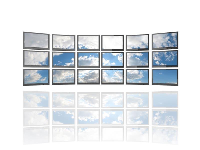 écran plat TV de s illustration de vecteur