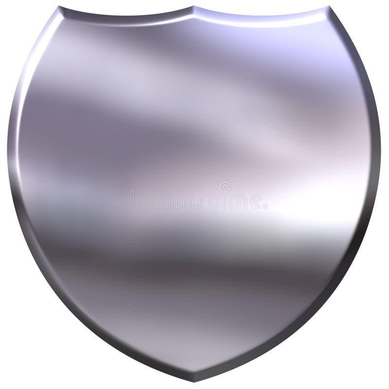 écran protecteur 3D argenté illustration de vecteur