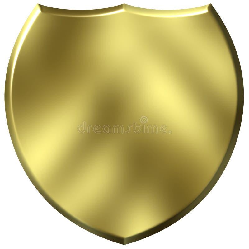 écran protecteur 3D d'or illustration de vecteur