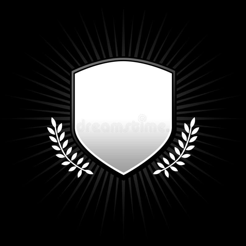 Écran protecteur argenté noir illustration stock