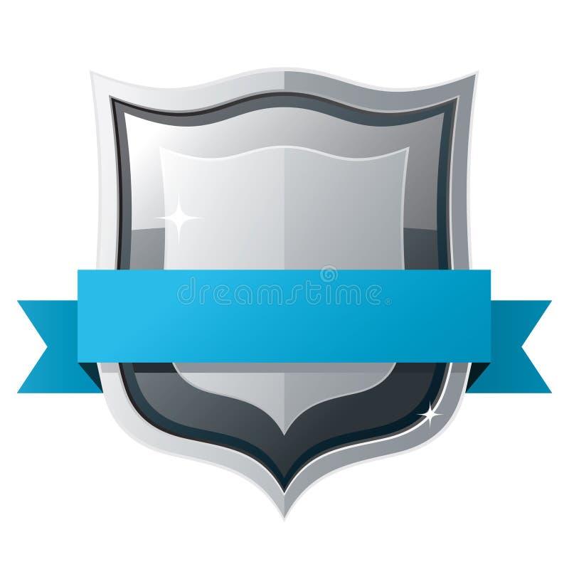 Écran protecteur avec la bande bleue illustration libre de droits