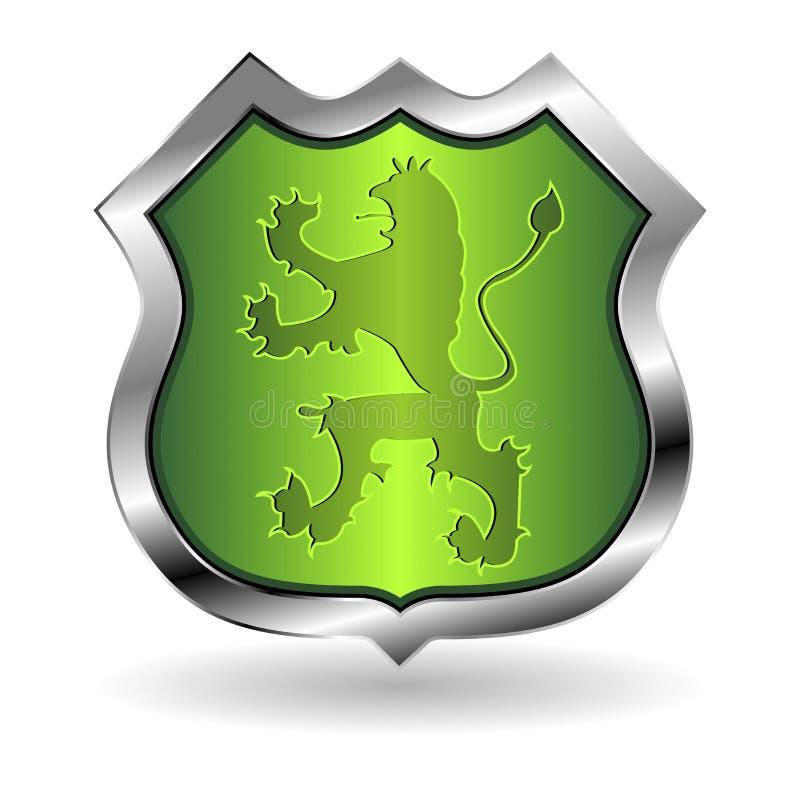 Écran protecteur avec le lion illustration de vecteur