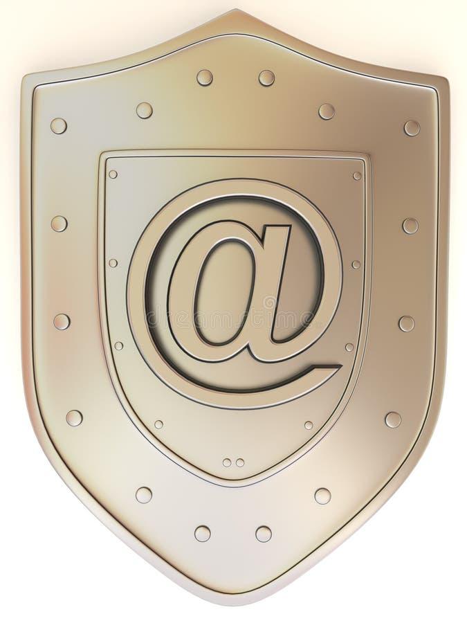 Écran protecteur avec le symbole pour l'Internet illustration libre de droits