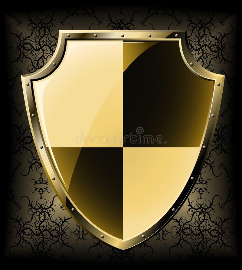 Écran protecteur d'or illustration libre de droits