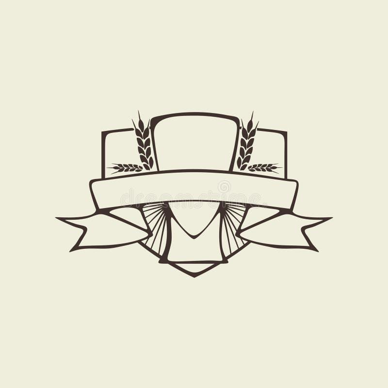 Écran protecteur de bière illustration de vecteur