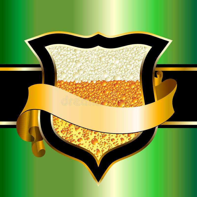 écran protecteur de bière illustration libre de droits