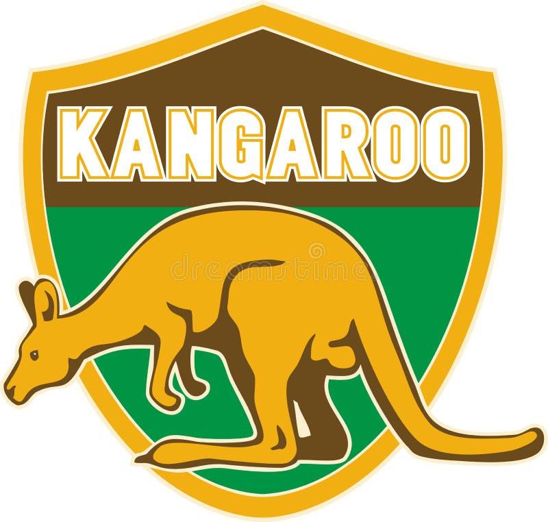 Écran protecteur de vue de côté de kangourou illustration stock
