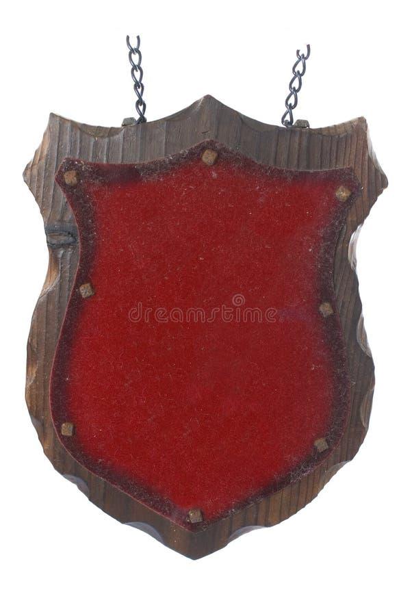 Écran protecteur en bois de plaque photographie stock libre de droits