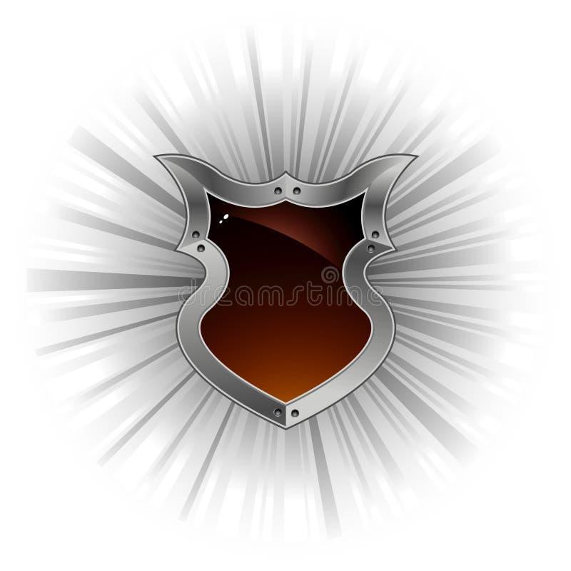 écran protecteur et rayons de petit morceau de fond illustration libre de droits