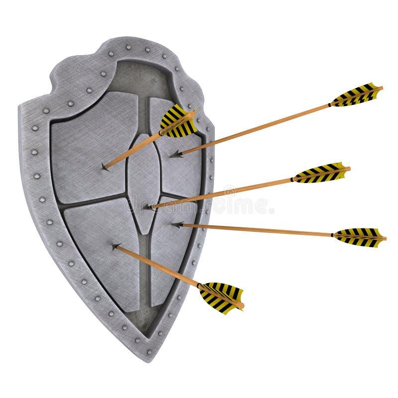 écran protecteur médiéval photo libre de droits