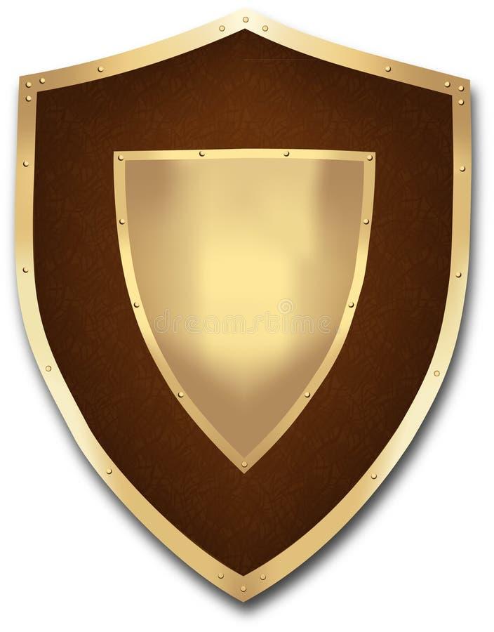 Écran protecteur médiéval illustration libre de droits
