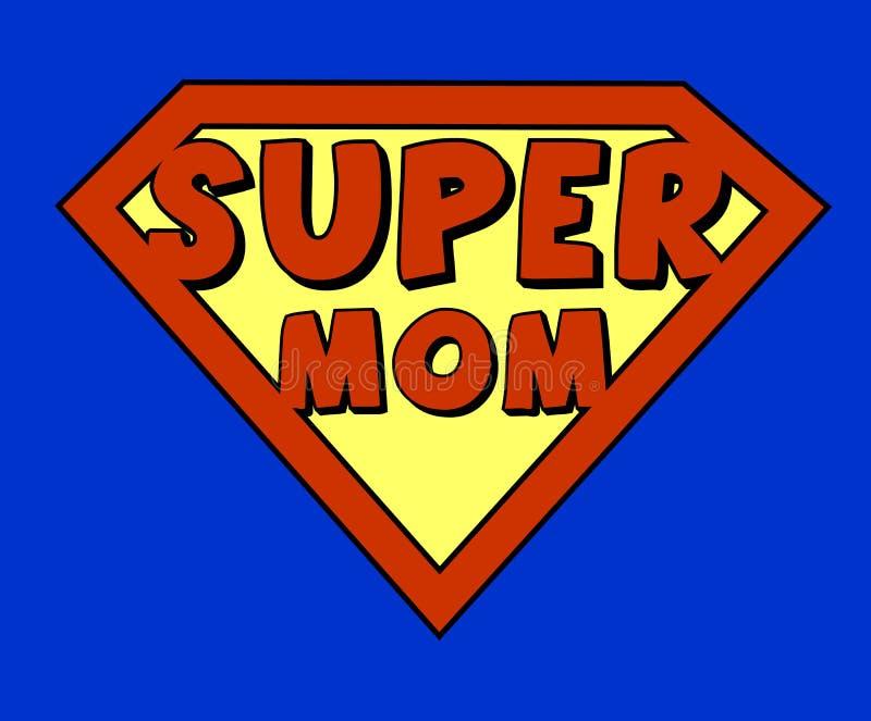 Écran protecteur superbe drôle de maman illustration stock