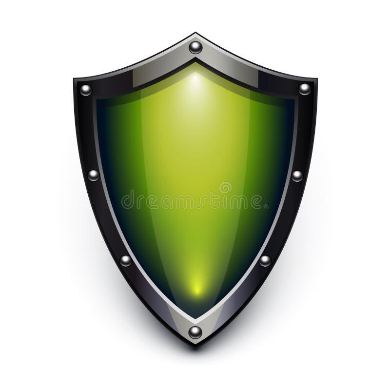 Écran protecteur vert de garantie illustration libre de droits
